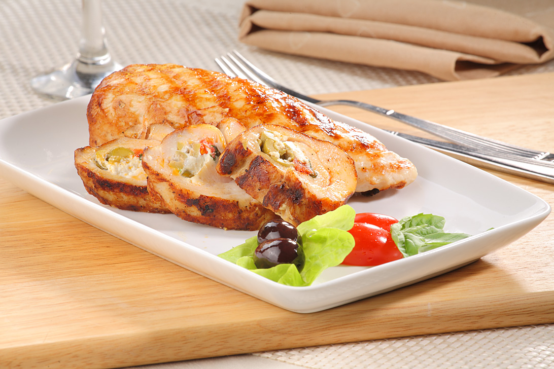 Chicken fillet stuffed with goat's cheese and spinach 250g