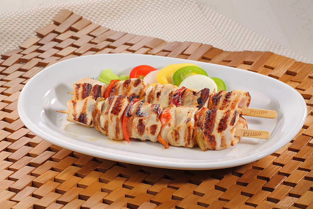 Chicken fillet and pepper skewers, 130g