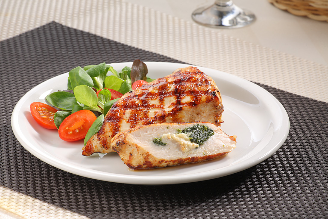 Chicken fillet with spinach and natural cheese 125g