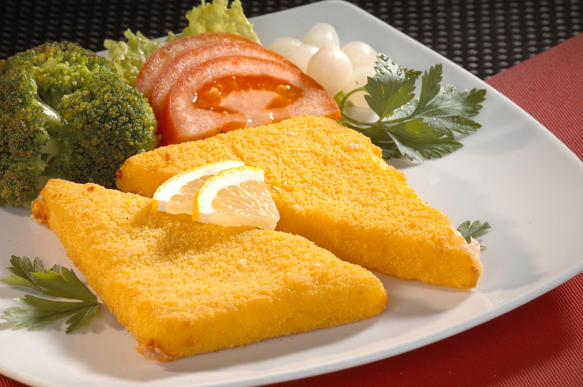 Breaded yellow cheese 100 gr